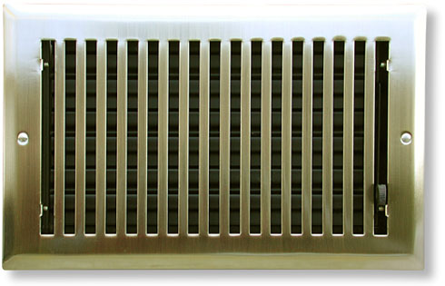 Mission Air Vent In Antique Brass
