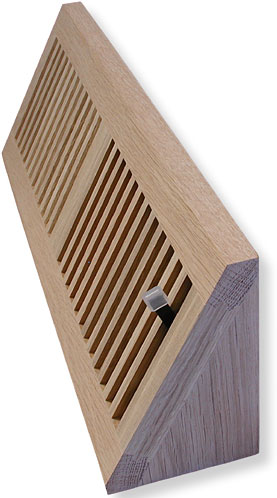 Solid Wood Baseboard Air Vents
