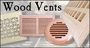 wood air vents, high velocity hvac vent