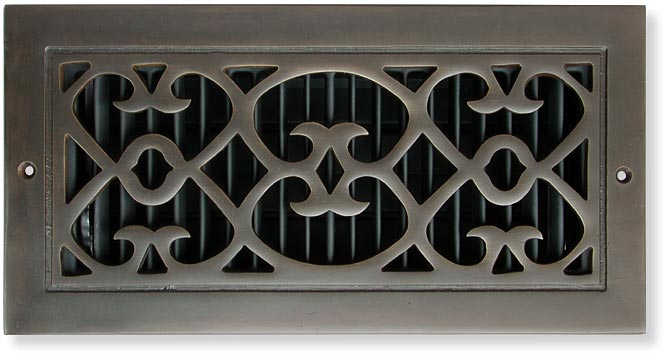 Bell Foundry Cast Bronze Classic Scroll Air Vent